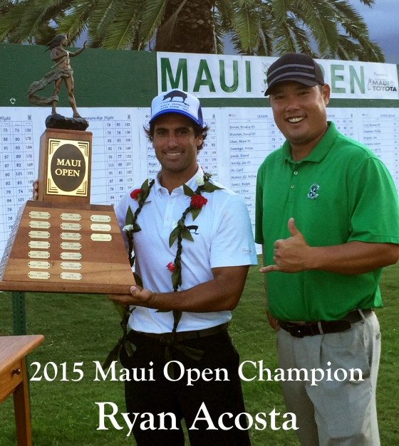 Ryan Acosta 2015 Maui Open Golf Champion Hawaii 808